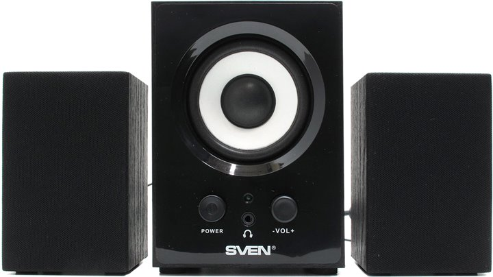 Колонки SVEN MS-80 Black (2x1W +Subwoofer 5W, дерево)