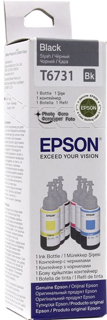 Чернила Epson T6731 Black для EPS Inkjet Photo L800