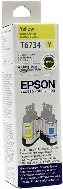 Чернила Epson T6734 Yellow для EPS Inkjet Photo L800