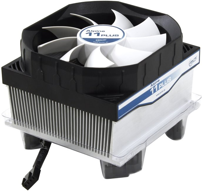 Arctic Cooling Alpine 11 PLUS Cooler (4пин, 775 / 1155, 23.5дБ, 600-2000об / мин, Al)