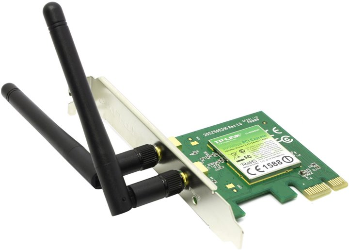 Адаптер WiFi TP-LINK &ltTL-WN881ND&gt Wireless N PCI Express Adapter (802.11b / g / n, 300Mbps, 2x2dBi)