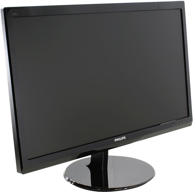 "24"" ЖК монитор PHILIPS 246V5LHAB / 00 / 01 (LCD, Wide, 1920x1080, D-Sub, HDMI)"