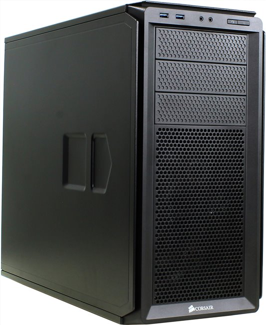 Корпус Miditower Corsair < CC-9011036-WW > Graphite Series 230T Black ATX без БП