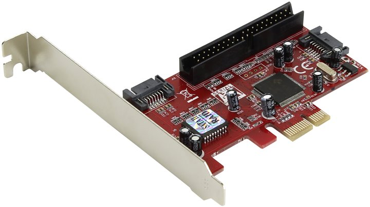 SATA IDE контроллер Espada PCIE004 RTL PCI-Ex1, SATA-II 300, 2 port-int/UltraATA133, 1-port, S 177837