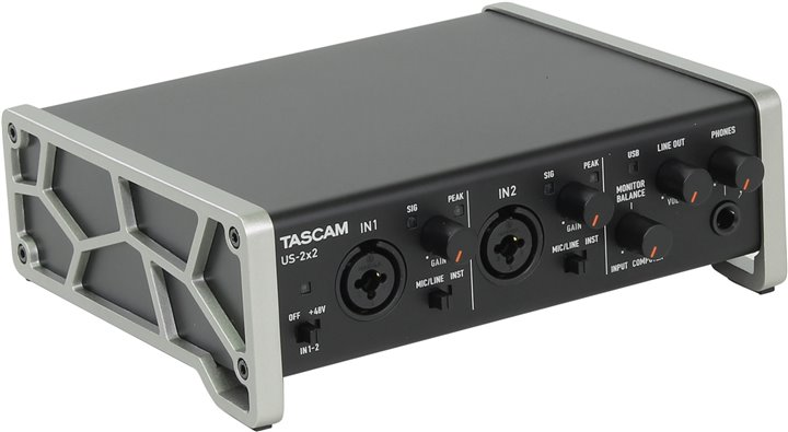 Звуковая карта TASCAM US-2x2 (RTL) (Analog 2in / 2outt, MIDI in / out, 24Bit / 96kHz, USB2.0)