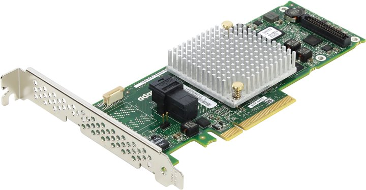 SAS RAID контроллер Microsemi / Adaptec RAID ASR-8405 Single 2277600-R PCI-E x8, 4-port int SAS / SATA 12Gb / s, RAID0 / 1 / 1E / 10 / 5 / 6 / 50 / 60