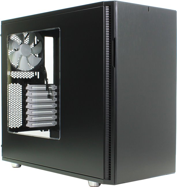 Miditower Fractal Design < FD-CA-DEF-R5-BK-W > Define R5 Black ATX без БП, с окном