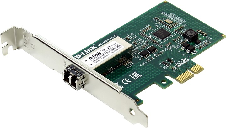 Сетевая карта D-Link &ltDGE-560SX / LC / C1A&gt (RTL) Карта PCI-Ex1 (Duplex 1000Base-SX, LC, MM)