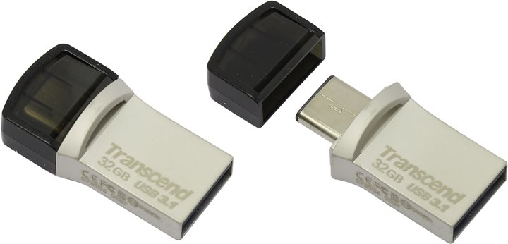 Флешка Transcend < TS32GJF890S > JetFlash 890S USB3.1 / USB-C OTG Flash Drive 32Gb (RTL)