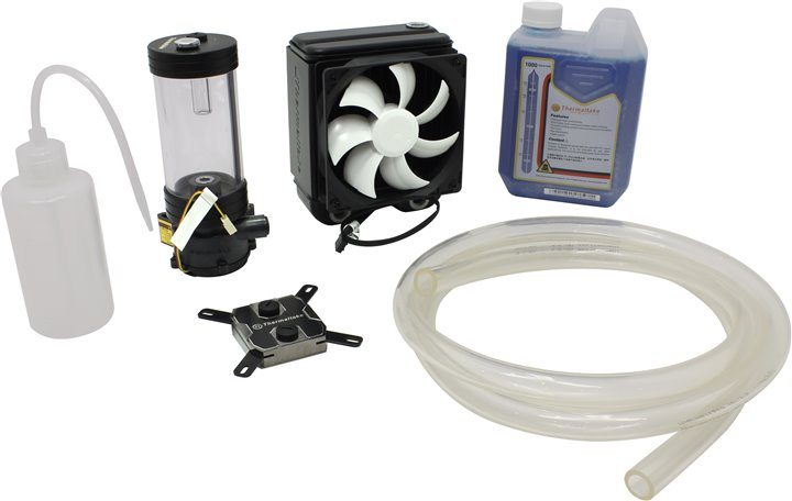 Thermaltake &ltCL-W069-CA00BL-A&gt Pacific RL120 Water cooling KIT вод.охл. (775 / 1155 / 1366 / 2011 / AM2-FM1, 20.7дБ, 2000об / м