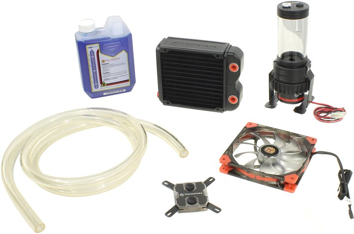 Thermaltake &ltCL-W072-CU00BL-A&gt Pacific RL140 Water cooling KIT вод.охл. (775 / 1155 / 1366 / 2011 / AM2-FM1, 21.8дБ, 1000об / м