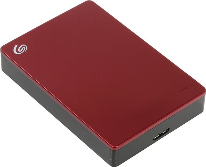 Внешний жесткий диск Seagate Backup Plus Portable &ltSTDR4000902&gt Red 4Tb USB3.0 (RTL)
