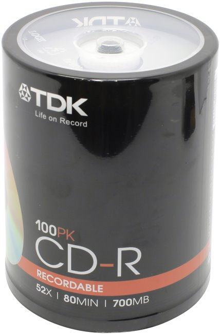 Диск CD-R CD-R TDK 700Mb 52x sp. < уп.100 шт > на шпинделе