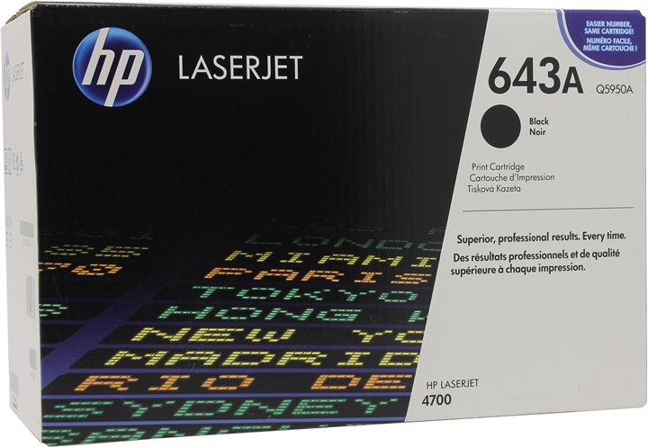 Картридж HP Q5950A (№643A) Black для HP COLOR LJ 4700 серии