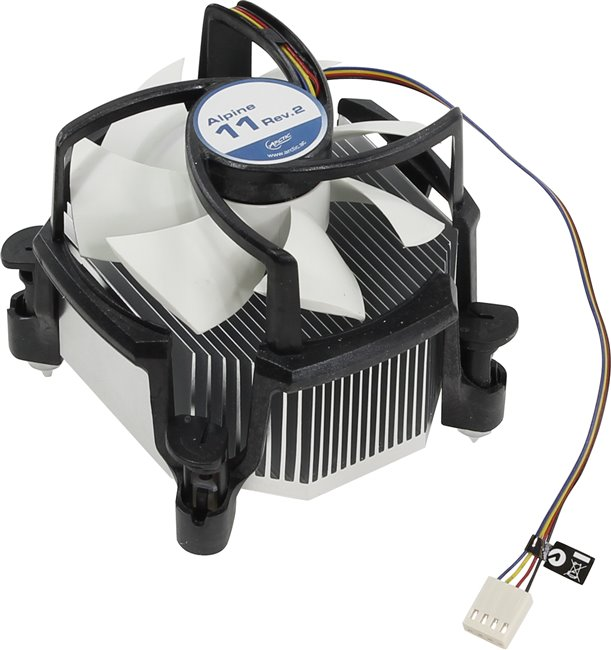 Arctic Cooling Alpine 11 (rev.2) Cooler (775 / 1155, 23.5дБ, 900-2000об / мин, Al)